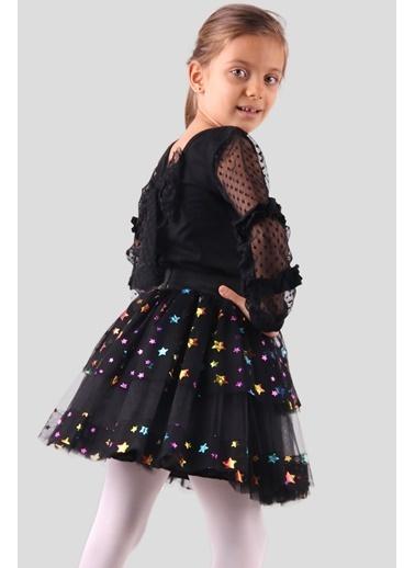 Breeze Kız Çocuk Tütü Etek Yıldızlı Siyah